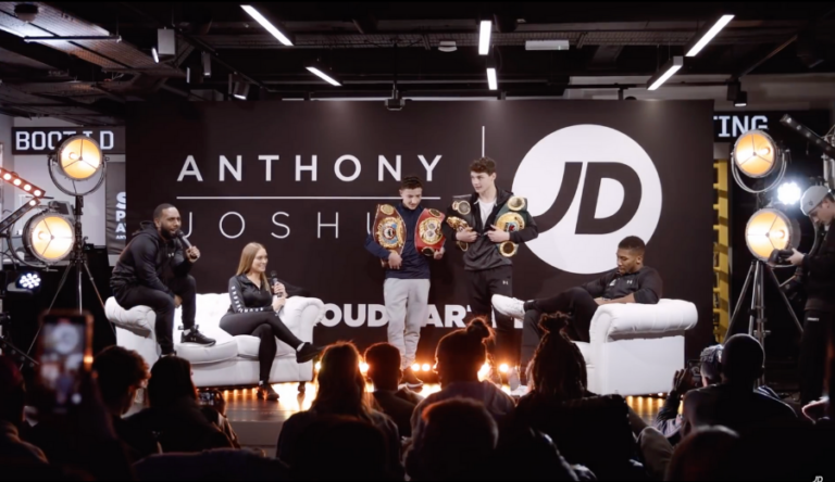 Watch Anthony Joshua sit down for a live episode of the JD In The Duffle Bag podcast