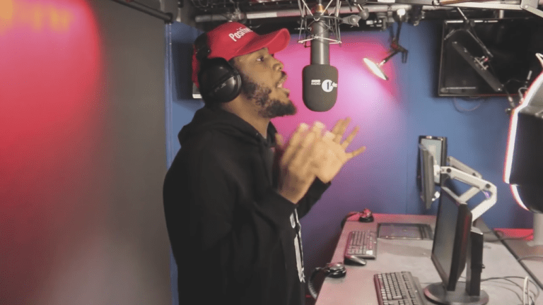 Shocka spits deep Fire In The Booth freestyle