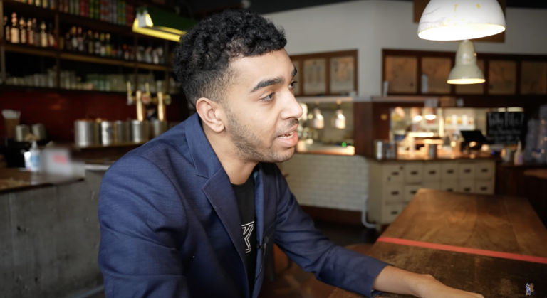 Niko Omilana surprises Londoners with giant burgers in new prank