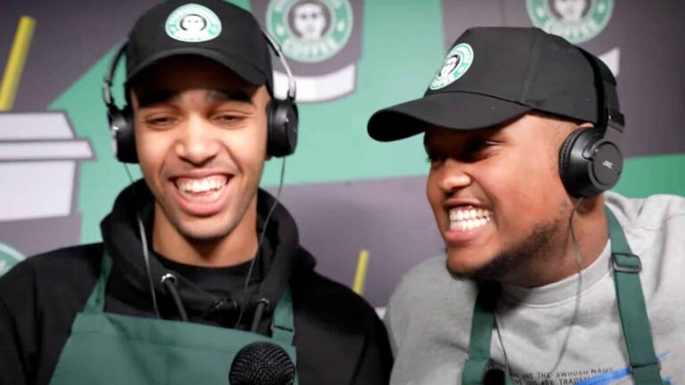 Niko Omilana opens up a fake Starbucks called 'Starshmucks' in latest video